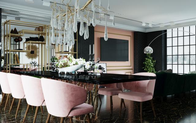 Дизайн столовой в коттедже, г. Тула