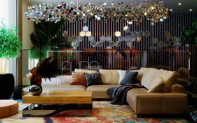 Дизайн гостиной - столовой, г. Москва