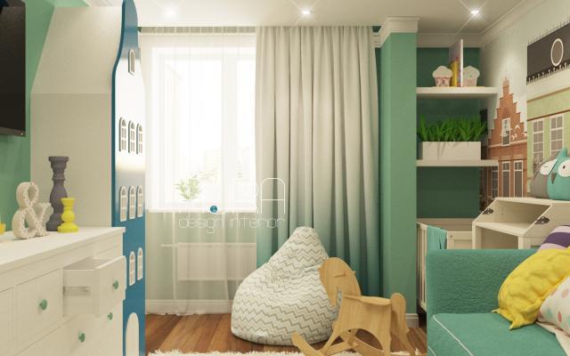 Дизайн детской комнаты по ул. Макаренко, г. Тула