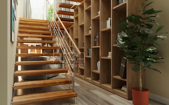 Дизайн лестницы в загородном доме, г. Тула