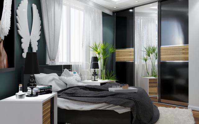 Дизайн спальни в ЖК 5th АВЕНЮ, г. Тула