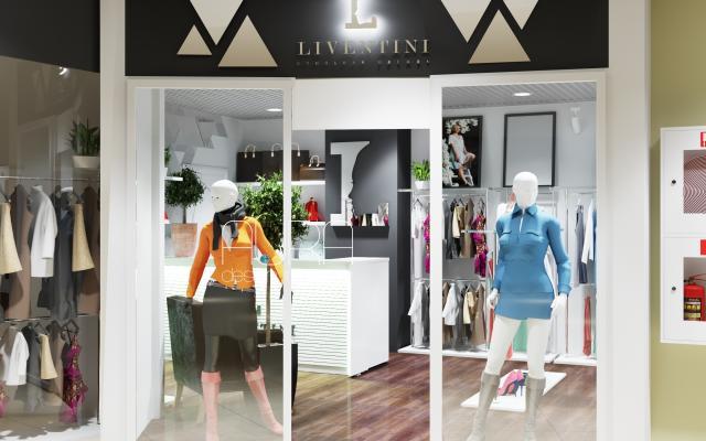 """Дизайн магазина  женской одежды """"LIVENTINI"""" г. Тула"""