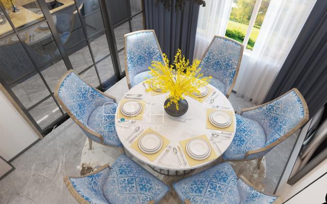 Дизайн столовой зоны в загородном доме, г. Тула