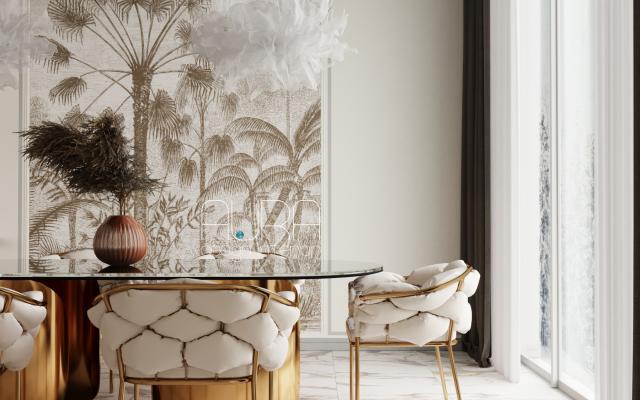 Дизайн столовой зоны в коттедже г. Москва
