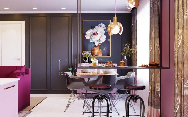 Дизайн кухни-гостиной, г. Алексин