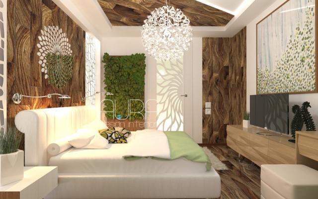 Салатовая спальня