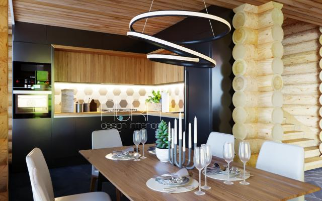 Дизайн кухни в коттедже, г. Белев