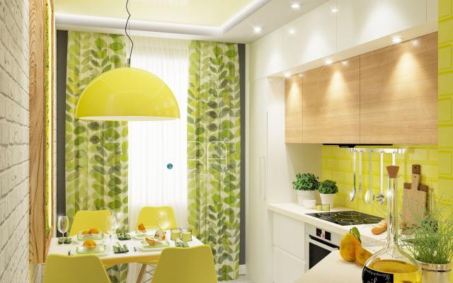 Дизайн кухни в квартире ЖК Вертикаль, г. Тула