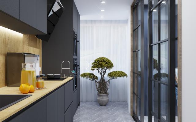 Дизайн кухни в загородном доме,г. Тула