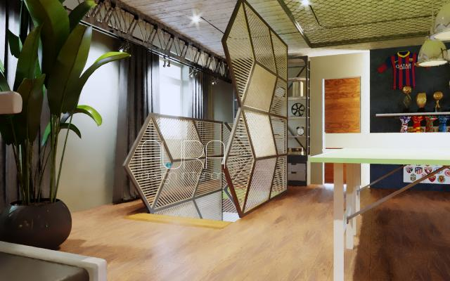 Дизайн комнаты отдыха в коттедже, г. Белев