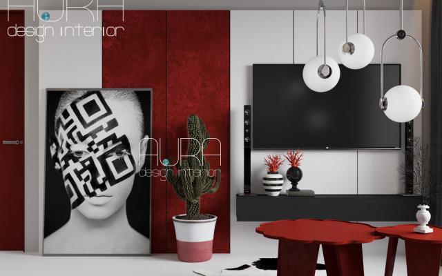 Дизайн комнат квартиры-студии, г. Тула