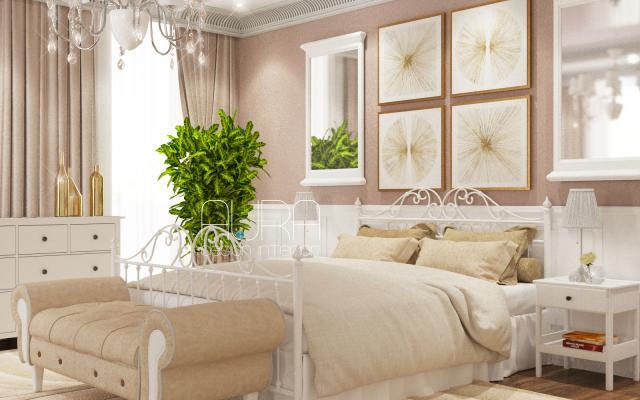 Дизайн спальни в загородном доме, г. Алексин