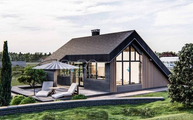 Дизайн лаунж-кухни загородного дома, г. Тула