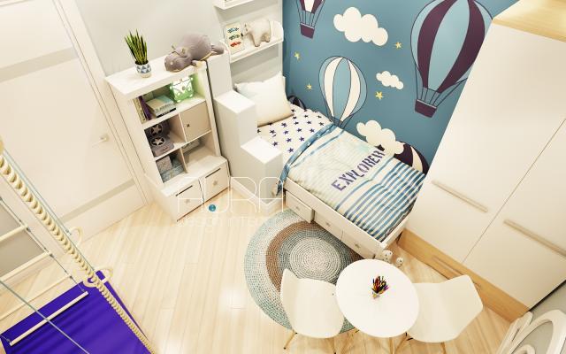 Дизайн детской комнаты по ул. Литейная, г. Тула