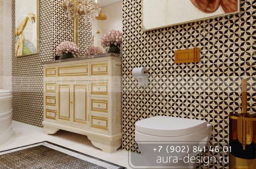 """Дизайн ванной комнаты, в ЖК """"Первомайский"""" г. Тула"""