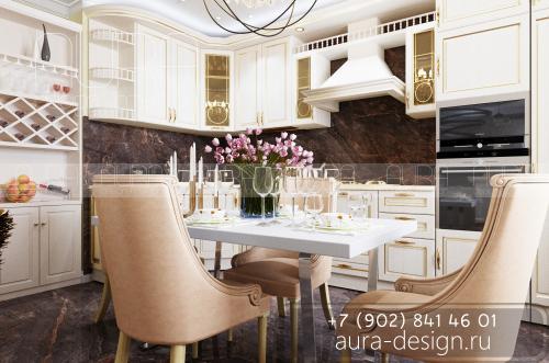 Дизайн кухни в квартире ЖК «Юго-восточный», г. Тула