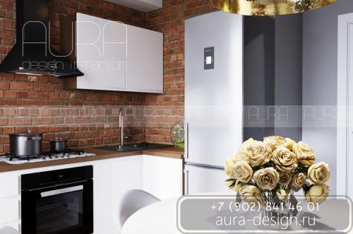 Дизайн кухни в квартире ЖК «ИМЕНА», г. Тула