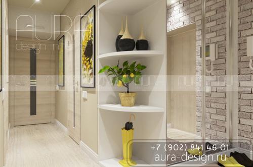 Дизайн коридора квартиры в ЖК «5th АВЕНЮ»