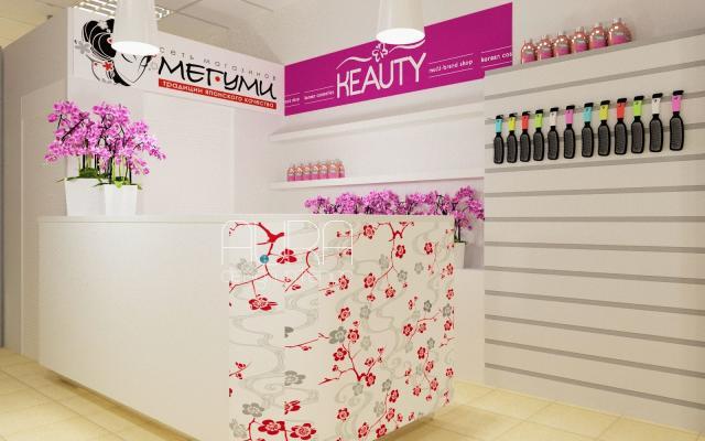 Дизайн магазина косметики KEATY & МЕГУМИ